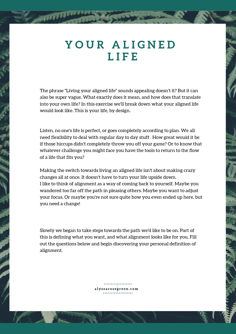 Your Aligned Life preview